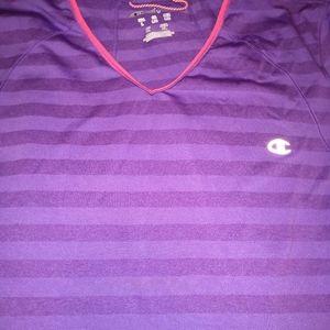 Champion stripped purple t-shirt